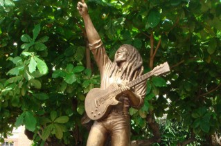 Bob Marley statue in St. Ann, Jamaica.